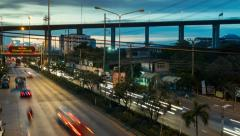 Traffic day to night time lapse, 4K Stock Footage