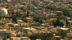 Royalty Free Stock Video Footage panoramic of a Tel Aviv cityscape shot in Stock Footage