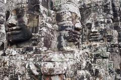 Faces of Angkor Thom Stock Photos
