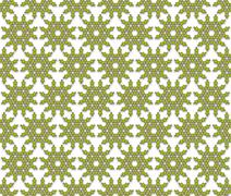 Stock Illustration of abstract pattern green flowers