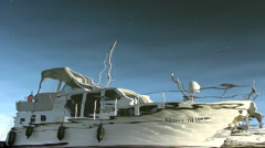 Boats and yachts in marina Stock Footage