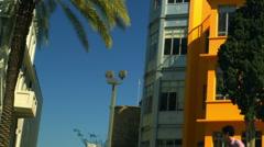 Royalty Free Stock Video Footage of Bialik Square in Tel Aviv shot in Israel at - stock footage