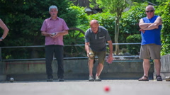 Men throwing the ball Stock Footage