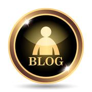 Stock Illustration of Blog icon. Internet button on white background..