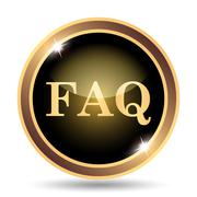 FAQ icon. Internet button on white background.. - stock illustration