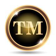 Trade mark icon. Internet button on white background.. - stock illustration