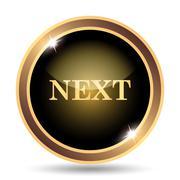Next icon. Internet button on white background.. - stock illustration