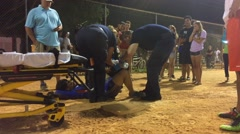 Stock Video Footage of Emergency response after sports injury