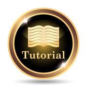Stock Illustration of Tutorial icon. Internet button on white background..