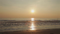 Sunset at the beach Adriatic sea Stock Footage