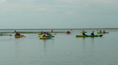 Kayaking in nature. Healthy lifestyle Stock Footage