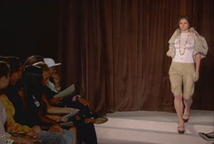 Fashion models walking on runway for Kai Milla Collection Stock Footage