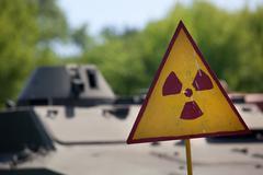Radioactivity warning symbol - stock photo