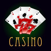 Stock Illustration of Luxury casino an gambling icon