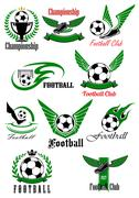 Football and soccer game cions Stock Illustration