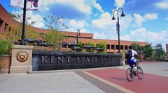 Kent State University Establishing Shot Stock Footage