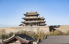 Jiayuguan Castle,Gansu of China - stock photo