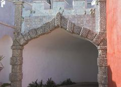 Access gate to Pena National Palace in Sintra Stock Photos