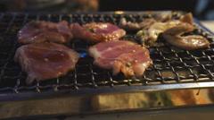 Roast meat called Yakiniku (japanese food) Stock Footage