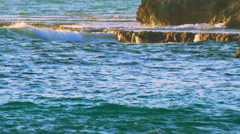Royalty Free Stock Video Footage panorama of Dor Beach shot in Israel at 4k with - stock footage