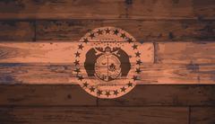 Missouri State Flag Brand - stock illustration