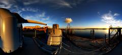 USS Kidd - 360 Degree panorama in Baton Rouge Stock Photos