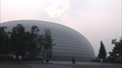"""Beijing National Theater, """"The Egg"""", China Stock Footage"""