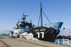 Sea Shephered anti-whaling ship Stock Photos