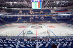 Ice arena VTB interior Stock Photos
