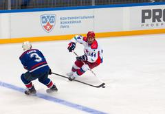 V. Tsyplakov (44) versus A. Sivov (3) Stock Photos