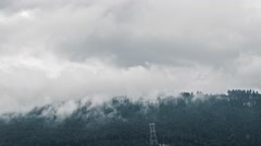 Biathlon Complex Laura in the clouds. Time Lapse. Sochi, Russia Stock Footage
