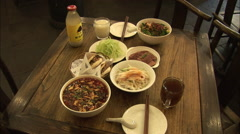 Shaanxi food, Chinese restaurant Stock Footage