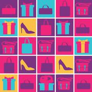 Background bright shopping in your life Stock Illustration