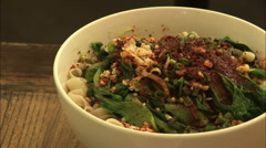 Chinese noodles, Shaanxi cuisine Stock Footage