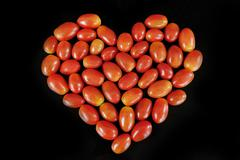 heart of the small cherry tomatoes - stock photo