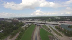 Stock Video Footage of Ariel View Of 610 East Freeway In Houston