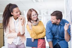 Young people on internship - stock photo