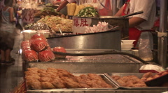 Stock Video Footage of Crabs on Beijing food stall, China