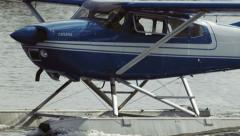 The Float Plane Before Taking Off - stock footage