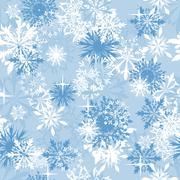 seamless snowflakes background - stock illustration