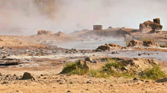 Hot springs at Lake Bogoria Stock Footage