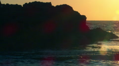 Royalty Free Stock Video Footage of sunset at Dor Beach shot in Israel at 4k Stock Footage