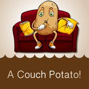 Old saying couch potato Stock Illustration
