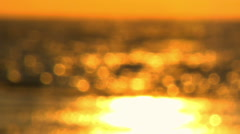 Royalty Free Stock Video Footage of a sunset reflection at Dor Beach shot in Stock Footage