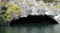 Sea cave, Grotto. Stock Footage