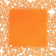 Trim from white stars on a orange background. - stock illustration