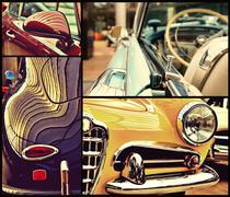 Fragments of vintage automobiles. Retro style. Potpourri. Luxury. - stock photo