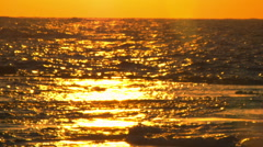 A sunset reflected in the Mediterranean at Dor Beach shot Stock Footage