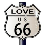 Love Route 66 Sign Piirros