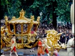 The Queens Coronation, Rare Color Archival Footage Stock Footage